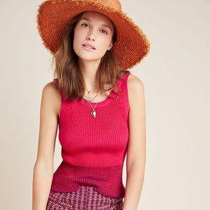 🆕 Anthropologie Jo Sweater Tank Pink NWT